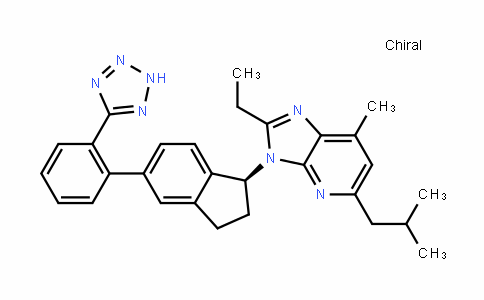 3H-IMiDazo[4,5-b]pyriDine, 3-[(1S)-2,3-DihyDro-5-[2-(2H-tetrazol-5-yl)phenyl]-1H-inDen-1-yl]-2-ethyl-7-Methyl-5-(2-Methylpropyl)-