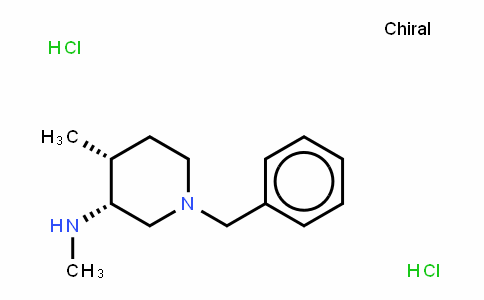3-PiperiDinamine, N,4-Dimethyl-1-(phenylmethyl)-, hyDrochloriDe (1:2), (3R,4R)-