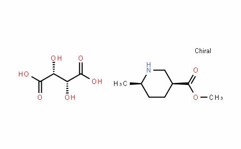 3-PiperiDinecarboxylic acid, 6-methyl-, methyl ester, (3S,6R)-, (2R,3R)-2,3-DihyDroxybutaneDioate (1:1)