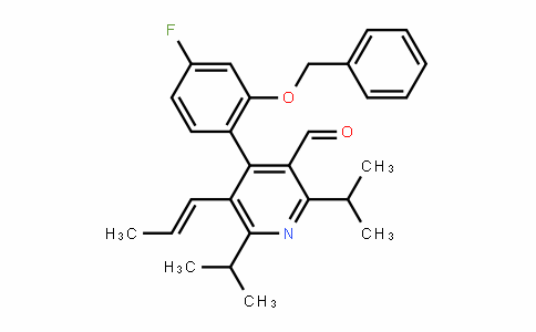 3-PyriDinecarboxalDehyDe, 4-[4-fluoro-2-(phenylmethoxy)phenyl]-2,6-bis(1-methylethyl)-5-(1-propen-1-yl)-