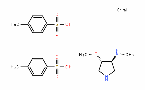 3-PyrroliDinamine, 4-methoxy-N-methyl-, (3S,4S)-, 4-methylbenzenesulfonate (1:2)