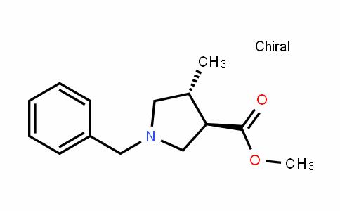 3-PyrroliDinecarboxylic acid, 4-methyl-1-(phenylmethyl)-, methyl ester, (3R,4R)-rel-