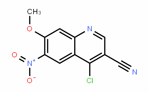 3-Quinolinecarbonitrile, 4-chloro-7-methoxy-6-nitro-