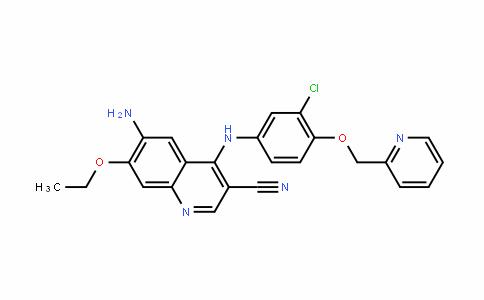 6-氨基-4-(3-氯-4-(吡啶-2-取代甲氧基)苯胺)-7-乙氧基喹啉-3-甲腈