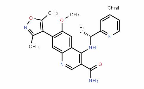 3-QuinolinecarboxamiDe, 7-(3,5-Dimethyl-4-isoxazolyl)-6-methoxy-4-[[(1R)-1-(2-pyriDinyl)ethyl]amino]-
