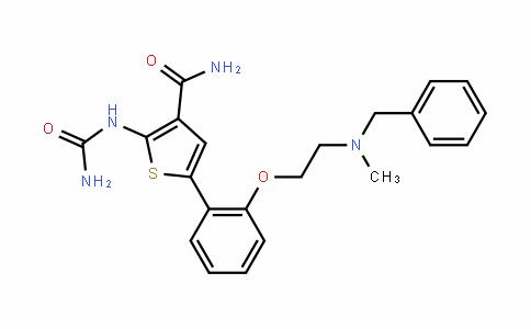 3-ThiophenecarboxaMiDe, 2-[(aMinocarbonyl)aMino]-5-[2-[2-[Methyl(phenylMethyl)aMino]ethoxy]phenyl]-
