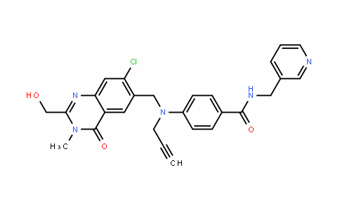 4-(((7-chloro-2-(hyDroxymethyl)-3-methyl-4-oxo-3,4-DihyDroquinazolin-6-yl)methyl)(prop-2-ynyl)amino)-N-(pyriDin-3-ylmethyl)benzamiDe