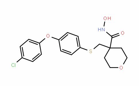 4-((4-(4-chlorophenoxy)phenylthio)methyl)-N-hyDroxytetrahyDro-2H-pyran-4-carboxamiDe