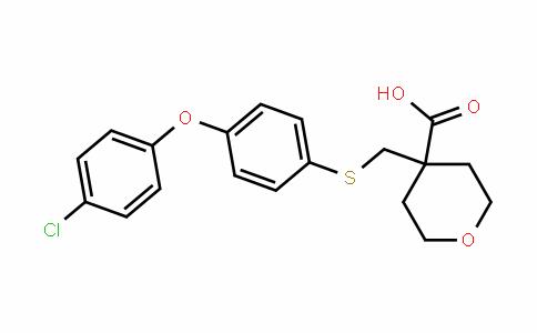 4-((4-(4-chlorophenoxy)phenylthio)methyl)tetrahyDro-2H-pyran-4-carboxylic acid
