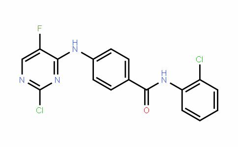 4-(2-chloro-5-fluoropyrimiDin-4-ylamino)-N-(2-chlorophenyl)benzamiDe