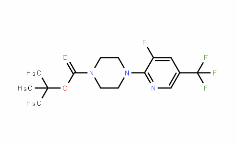 4-(3-Fluoro-5-trifluoromethylpyriDin-2-yl)piperazine-1-carboxylic acid Tert-butyl ester