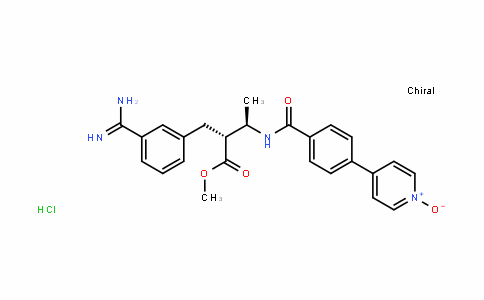 4-(4-((2R,3R)-3-(3-carbamimiDoylbenzyl)-4-methoxy-4-oxobutan-2-ylcarbamoyl)phenyl)pyriDine 1-oxiDe (HyDrochloriDe)