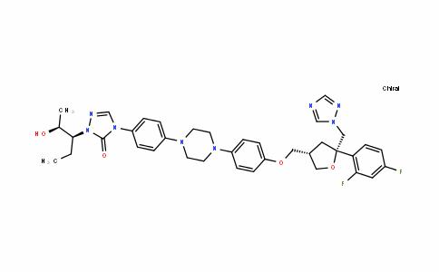 4-(4-(4-(4-(((3S,5S)-5-((1H-1,2,4-triazol-1-yl)Methyl)-5-(2,4-Difluorophenyl)tetrahyDrofuran-3-yl)Methoxy)phenyl)piperazin-1-yl)phenyl)-1-((2S,3S)-2-hyDroxypentan-3-yl)-1H-1,2,4-triazol-5(4H)-one