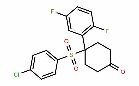 4-(4-chlorophenylsulfonyl)-4-(2,5-Difluorophenyl)cyclohexanone