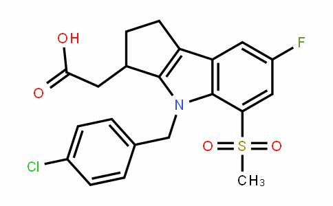 4-[(4-chlorophenyl)methyl]-7-fluoro-1,2,3,4-tetrahyDro-5-(methylsulfonyl)-Cyclopent[b]inDole-3-acetic acid