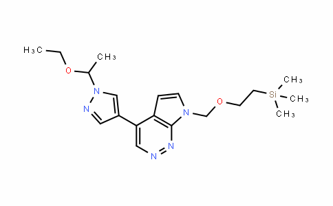 4-[1-(1-Ethoxyethyl)-1H-pyrazol-4-yl]-7-[[2-(trimethylsilyl)ethoxy]methyl]-7H-pyrrolo[2,3-c]pyriDazine