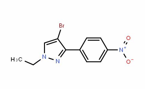 4-bromo-1-ethyl-3-(4-nitrophenyl)-1H-pyrazole