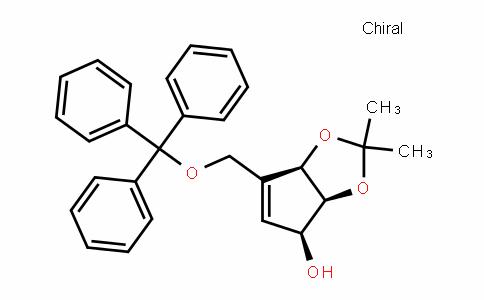 4H-Cyclopenta-1,3-Dioxol-4-ol, 3a,6a-DihyDro-2,2-Dimethyl-6-[(triphenylmethoxy)methyl]-, (3aS,4S,6aR)-