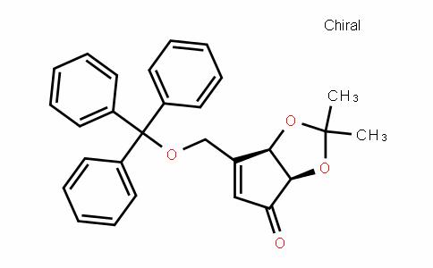 4H-Cyclopenta-1,3-Dioxol-4-one, 3a,6a-DihyDro-2,2-Dimethyl-6-[(triphenylmethoxy)methyl]-, (3aR,6aR)-