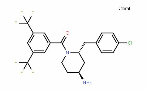 4-PiperiDinamine, 1-[3,5-bis(trifluoromethyl)benzoyl]-2-[(4-chlorophenyl)methyl]-, (2R,4S)- (9CI)