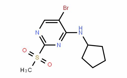 4-PyrimiDinamine, 5-bromo-N-cyclopentyl-2-(methylsulfonyl)-