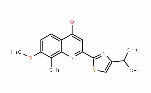 4-Quinolinol, 7-methoxy-8-methyl-2-[4-(1-methylethyl)-2-thiazolyl]-