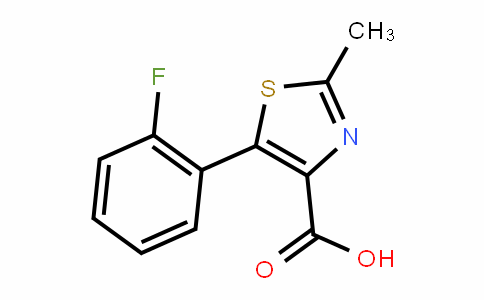 4-Thiazolecarboxylic acid, 5-(2-fluorophenyl)-2-methyl-