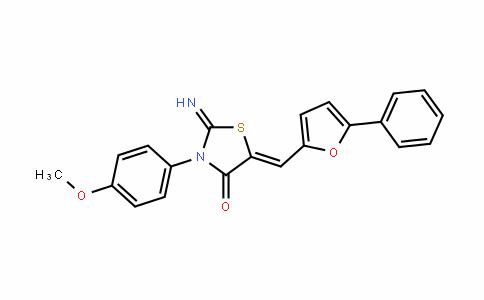 4-ThiazoliDinone, 2-iMino-3-(4-Methoxyphenyl)-5-[(5-phenyl-2-furanyl)Methylene]-