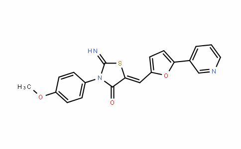 4-ThiazoliDinone, 2-iMino-3-(4-Methoxyphenyl)-5-[[5-(3-pyriDinyl)-2-furanyl]Methylene]-