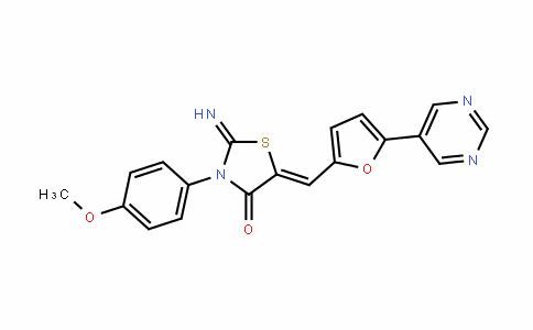 4-ThiazoliDinone, 2-iMino-3-(4-Methoxyphenyl)-5-[[5-(5-pyriMiDinyl)-2-furanyl]Methylene]-