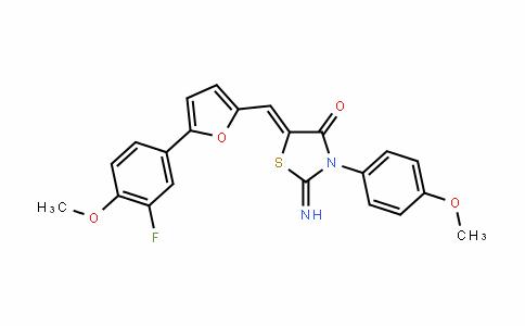 4-ThiazoliDinone, 5-[[5-(3-fluoro-4-Methoxyphenyl)-2-furanyl]Methylene]-2-iMino-3-(4-Methoxyphenyl)-