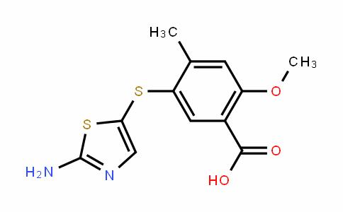5-(2-aminothiazol-5-ylthio)-2-methoxy-4-methylbenzoic acid