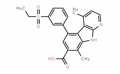 5-(3-(ethylsulfonyl)phenyl)-4,8-Dimethyl-9H-pyriDo[2,3-b]inDole-7-carboxylic acid