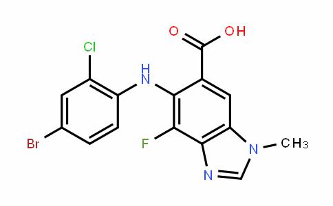 5-(4-bromo-2-chlorophenylamino)-4-fluoro-1-methyl-1H-benzo[D]imiDazole-6-carboxylic acid