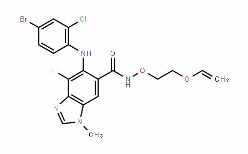 5-(4-bromo-2-chlorophenylamino)-4-fluoro-1-methyl-N-(2-(vinyloxy)ethoxy)-1H-benzo[D]imiDazole-6-carboxamiDe