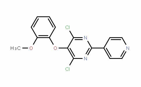 5-(o-Methoxyphenoxy)-4,6-Dichloro-2-(4-pyriDyl)pyrimiDine
