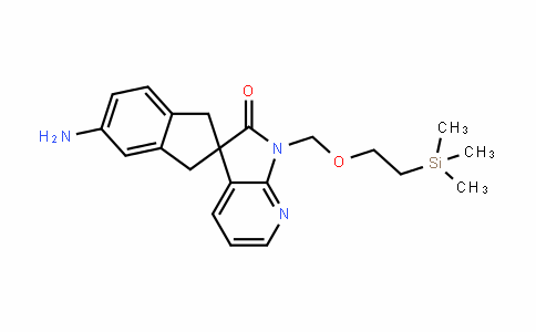 5-amino-1'-((2-(trimethylsilyl)ethoxy)methyl)-1,3-DihyDrospiro[inDene-2,3'-pyrrolo[2,3-b]pyriDin]-2'(1'H)-one