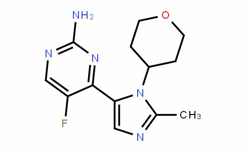5-fluoro-4-(2-Methyl-1-(tetrahyDro-2H-pyran-4-yl)-1H-iMiDazol-5-yl)pyriMiDin-2-aMine