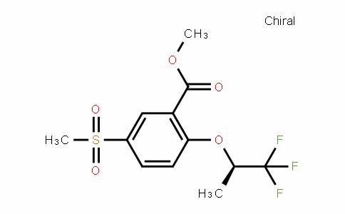 5-Methylsulfonyl-2-[((R)-2,2,2-trifluoro-1-methylethyl)oxy]benzoic acid methyl ester