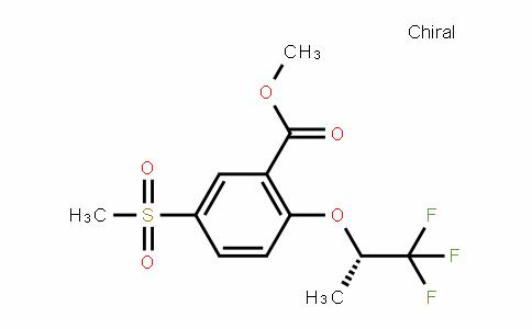 5-Methylsulfonyl-2-[((S)-2,2,2-trifluoro-1-methylethyl)oxy]benzoic acid methyl ester