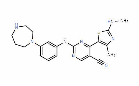 5-PyriMiDinecarbonitrile, 2-[[3-(hexahyDro-1H-1,4-Diazepin-1-yl)phenyl]aMino]-4-[4-Methyl-2-(MethylaMino)-5-thiazolyl]-