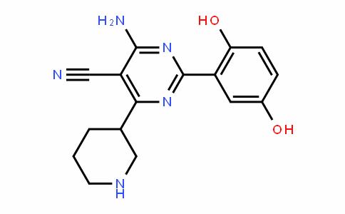 5-PyriMiDinecarbonitrile, 4-aMino-2-(2,5-DihyDroxyphenyl)-6-(3-piperiDinyl)-