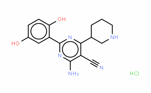 5-PyriMiDinecarbonitrile, 4-aMino-2-(2,5-DihyDroxyphenyl)-6-(3-piperiDinyl)-, (HCl salt)