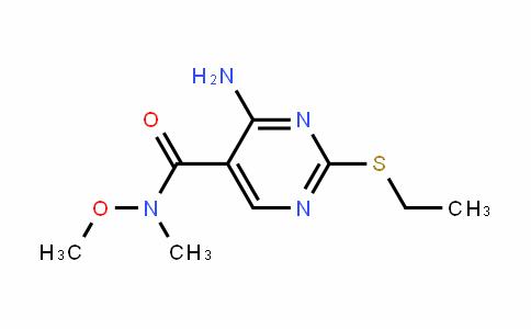 5-PyrimiDinecarboxamiDe, 4-amino-2-(ethylthio)-N-methoxy-N-methyl-