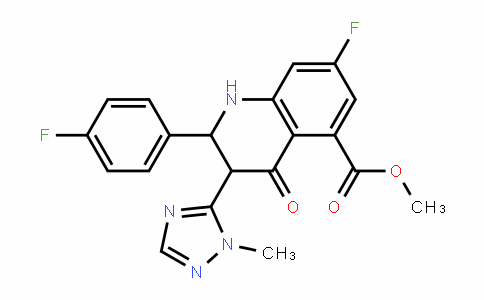 5-Quinolinecarboxylic acid, 7-fluoro-2-(4-fluorophenyl)-1,2,3,4-tetrahyDro-3-(1-methyl-1H-1,2,4-triazol-5-yl)-4-oxo-, methyl ester