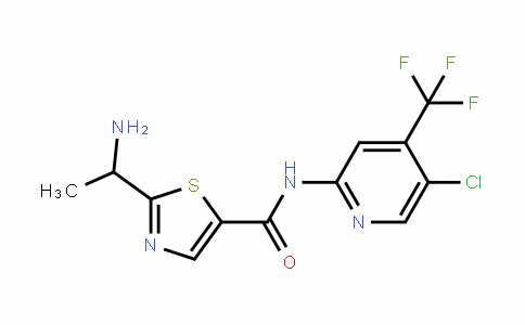 5-ThiazolecarboxamiDe, 2-(1-aminoethyl)-N-[5-chloro-4-(trifluoromethyl)-2-pyriDinyl]-
