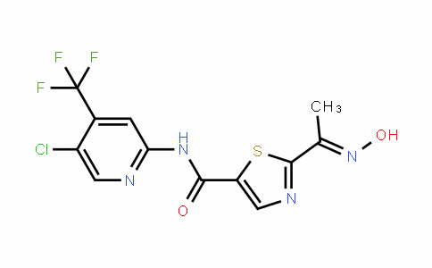 5-ThiazolecarboxamiDe, N-[5-chloro-4-(trifluoromethyl)-2-pyriDinyl]-2-[1-(hyDroxyimino)ethyl]-