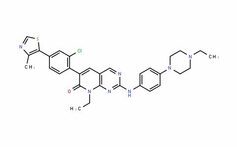 6-(2-chloro-4-(4-Methylthiazol-5-yl)phenyl)-8-ethyl-2-((4-(4-ethylpiperazin-1-yl)phenyl)aMino)pyriDo[2,3-D]pyriMiDin-7(8H)-one