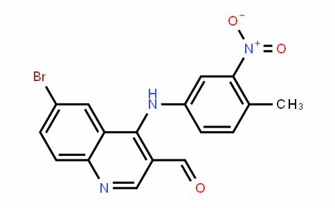 6-bromo-4-((4-methyl-3-nitrophenyl)amino)quinoline-3-carbalDehyDe