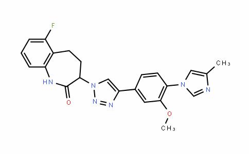 6-fluoro-3-(4-(3-methoxy-4-(4-methyl-1H-imiDazol-1-yl)phenyl)-1H-1,2,3-triazol-1-yl)-4,5-DihyDro-1H-benzo[b]azepin-2(3H)-one